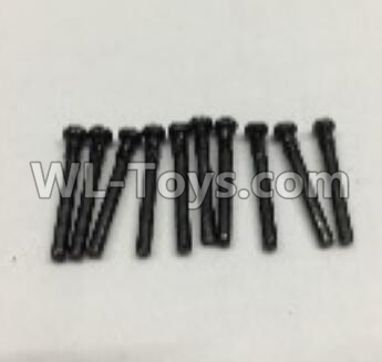 Wltoys 18401 RC Car Parts-Round Head self tapping screws Parts(M2x19)-10pcs-0917,Wltoys 18401 Parts