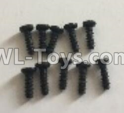 Wltoys 18401 RC Car Parts-0553 Round Head machine screws Parts(M2x6)-10pcs,Wltoys 18401 Parts