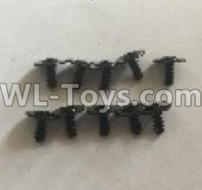 Wltoys 18401 RC Car Parts-L959-62 Round Head self tapping screws Parts with tape(2.5x6x8PWB)-10pcs,Wltoys 18401 Parts