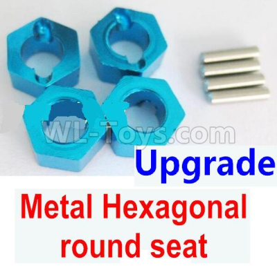 Wltoys 184012 RC Car Upgrade Metal Hexagonal round seat(4pcs)(4pcs)-Blue,Wltoys 184012 Parts
