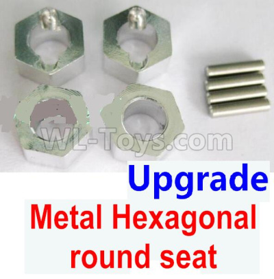 Wltoys 184012 RC Car Upgrade Metal Hexagonal round seat(4pcs)(4pcs)-Silver,Wltoys 184012 Parts
