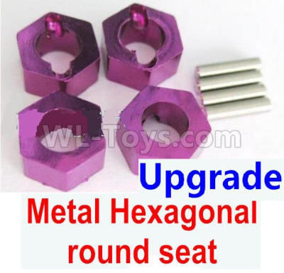 Wltoys 184012 RC Car Upgrade Metal Hexagonal round seat(4pcs)-Purple,Wltoys 184012 Parts