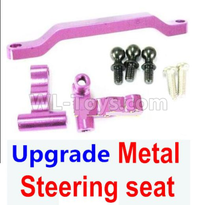 Wltoys 184012 RC Car Parts-Ugrade Metal Steering seat-Purple,Wltoys 184012 Parts