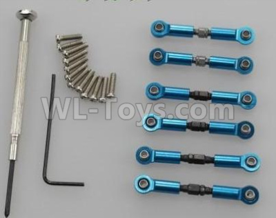 Wltoys 184012 RC Car Upgrade Metal Connect buckle,Trolley(6pcs)-Blue,Wltoys 184012 Parts