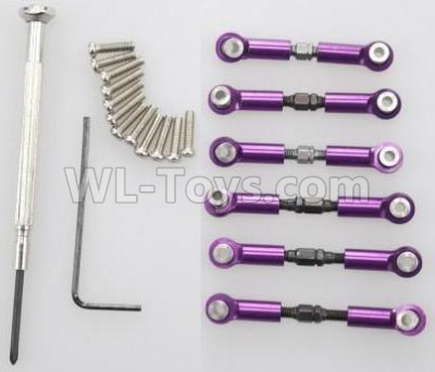 Wltoys 184012 RC Car Upgrade Metal Connect buckle,Trolley(6pcs)-Purple,Wltoys 184012 Parts
