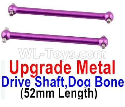 Wltoys 184012 RC Car Upgrade Metal Drive shaft Parts,Dog Bone(2pcs)-Purple-A949-25,Wltoys 184012 Parts