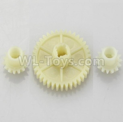 Wltoys 184012 RC Car Parts-Reduction gear with 2 small gear-A949-24,Wltoys 184012 Parts