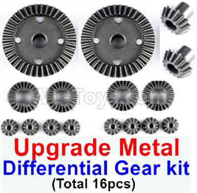 Wltoys 184012 RC Car Upgrade All metal Differential Gear kit(Total 16pcs),Wltoys 184012 Parts