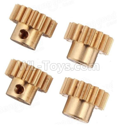 Wltoys 184012 RC Car Parts-Copper motor Gear Parts(4pcs)-0.7 Modulus-17 Teeth,Wltoys 184012 Parts