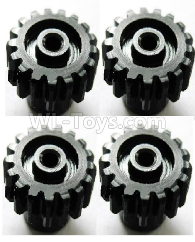 Wltoys 184012 RC Car Upgrade motor Gear Parts(4pcs)-0.7 Modulus-17 Teeth-Black,Wltoys 184012 Parts