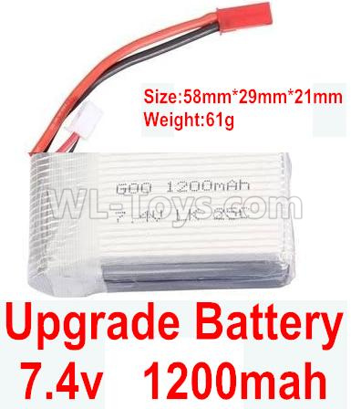 Wltoys 184012 RC Car Upgrade 1200mah battery(1pcs)-A949-27,Wltoys 184012 Parts