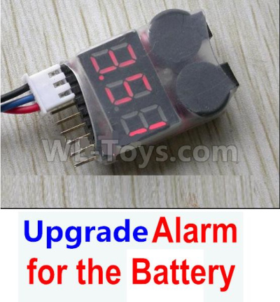 Wltoys 184012 RC Car Upgrade Alarm for the Battery,Can test whether your battery has enouth power