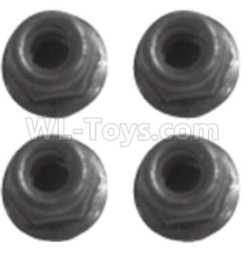 Wltoys 184012 RC Car Parts-M2.5 Locknut(4pcs)-K939-43,Wltoys 184012 Parts