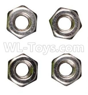 Wltoys 184012 RC Car Parts-M3 Anti-loose Screw nut(4pcs)-A949-49,Wltoys 184012 Parts
