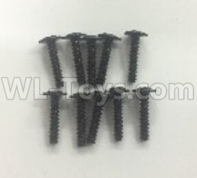 Wltoys 184012 RC Car Parts-Round head screw with media(10pcs)-ST2.5X12PWB-W6-184012.0892,Wltoys 184012 Parts