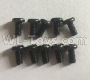 Wltoys 184012 RC Car Parts-Cross flat head mechanical screw(10pcs)-3x6MM-184012.0945,Wltoys 184012 Parts