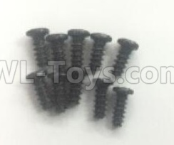 Wltoys 184012 RC Car Parts-Round head self tapping screw (10pcs) - 2.6X6mm-A949-38,Wltoys 184012 Parts