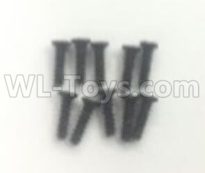 Wltoys 184012 RC Car Parts-Round head flat tail screws Parts (10pcs) -2X7PB-D3.5-A979-4.0582,Wltoys 184012 Parts