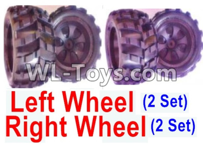 Wltoys 18402 RC Car Parts-Whole Left and Right wheel unit-(2 set Left and 2 set Right),Wltoys 18402 Parts