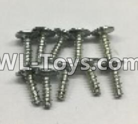 Wltoys 18402 RC Car Parts-0918 Round Head self tapping screws Parts with tape(M3x10PWA)-10pcs,Wltoys 18402 Parts