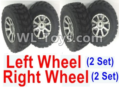 Wltoys 18403 RC Car Parts-Whole Left and Right wheel unit-(2 set Left and 2 set Right),Wltoys 18403 Parts