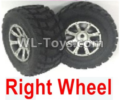 Wltoys 18403 RC Car Parts-0933 Whole Right wheel unit(Include the Wheel hub,tire lether)-2 set,Wltoys 18403 Parts