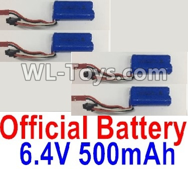 Wltoys 18403 RC Car Parts-6.4V 500mAh Battery Parts(4pcs)-0914,Wltoys 18403 Parts