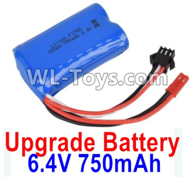 Wltoys 18403 RC Car Upgrade Battrey Parts-6.4V 750mAh Battery Parts(1pcs)-52X32X16mm-0914,Wltoys 18403 Parts