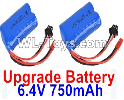 Wltoys 18403 RC Car Upgrade Battery Parts-6.4V 750mAh Battery Parts(2pcs)-52X32X16mm-0914,Wltoys 18403 Parts