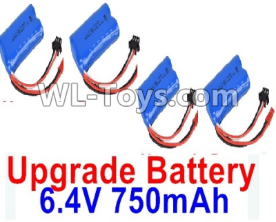 Wltoys 18403 RC Car Upgrade 6.4V 750mAh Battery Parts(4pcs)-52X32X16mm-0914,Wltoys 18403 Parts