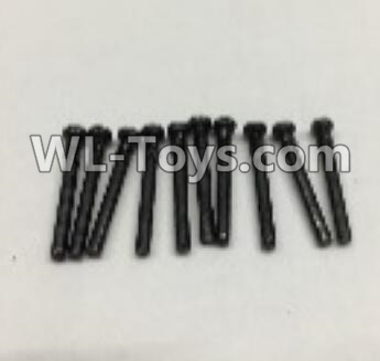 Wltoys 18403 RC Car Parts-Round Head self tapping screws Parts(M2x19)-10pcs-0917,Wltoys 18403 Parts