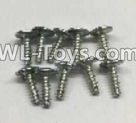 Wltoys 18403 RC Car Parts-0918 Round Head self tapping screws Parts with tape(M3x10PWA)-10pcs,Wltoys 18403 Parts