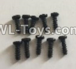 Wltoys 18403 RC Car Parts-0553 Round Head machine screws Parts(M2x6)-10pcs,Wltoys 18403 Parts