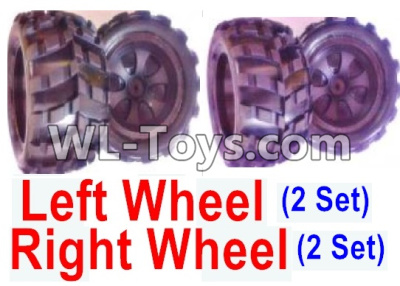 Wltoys 18404 RC Car Parts-Whole Left and Right wheel unit-(2 set Left and 2 set Right),Wltoys 18404 Parts