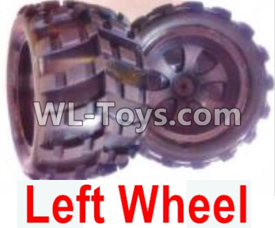 Wltoys 18404 RC Car Parts-Whole Left wheel unit(Include the Wheel hub,tire lether)-2 set-0928,Wltoys 18404 Parts
