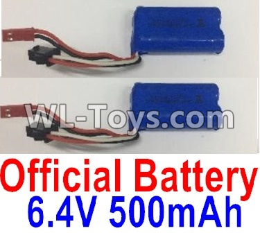 Wltoys 18404 RC Car Parts-Battery-6.4V 500mAh Battery Parts(2pcs)-0914,Wltoys 18404 Parts