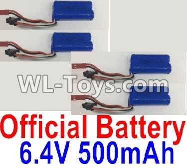 Wltoys 18404 RC Car Parts-6.4V 500mAh Battery Parts(4pcs)-0914,Wltoys 18404 Parts