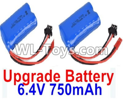 Wltoys 18404 RC Car Upgrade Battery Parts-6.4V 750mAh Battery Parts(2pcs)-52X32X16mm-0914,Wltoys 18404 Parts
