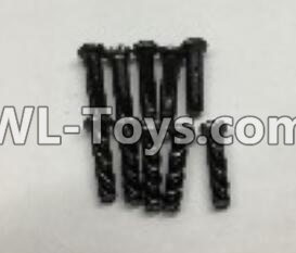 Wltoys 18404 RC Car Parts-Round Head machine screws Parts(M2.5x10)-10pcs-A303-30,Wltoys 18404 Parts