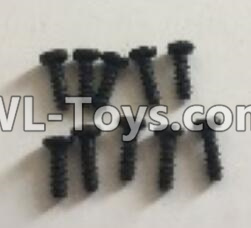Wltoys 18404 RC Car Parts-0553 Round Head machine screws Parts(M2x6)-10pcs,Wltoys 18404 Parts