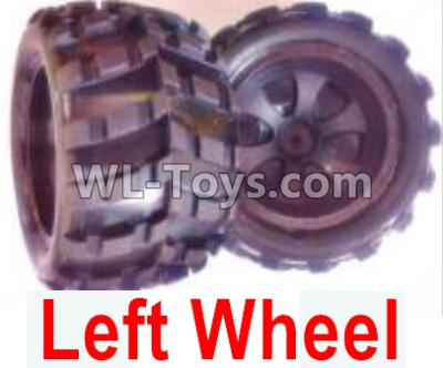 Wltoys 18405 RC Car Parts-Whole Left wheel unit(Include the Wheel hub,tire lether)-2 set-0928,Wltoys 18405 Parts
