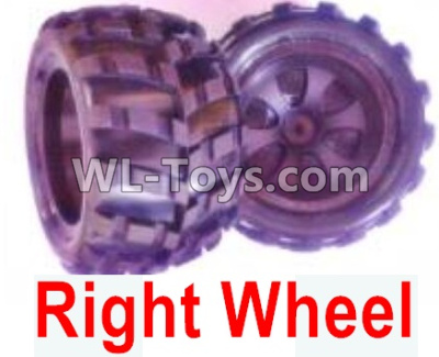 Wltoys 18405 RC Car Parts-Whole Right wheel unit(Include the Wheel hub,tire lether)-2 set-0929,Wltoys 18405 Parts