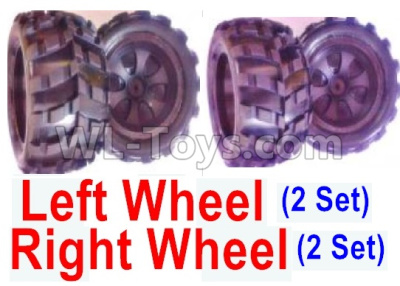 Wltoys 18409 RC Car Parts-Whole Left and Right wheel unit-(2 set Left and 2 set Right),Wltoys 18409 Parts