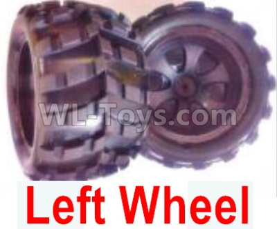Wltoys 18409 RC Car Parts-Whole Left wheel unit(Include the Wheel hub,tire lether)-2 set-0928,Wltoys 18409 Parts