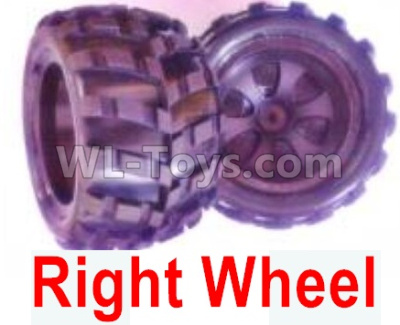Wltoys 18409 RC Car Parts-Whole Right wheel unit(Include the Wheel hub,tire lether)-2 set-0929,Wltoys 18409 Parts