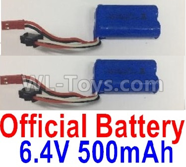 Wltoys 18409 RC Car Parts-Battery-6.4V 500mAh Battery Parts(2pcs)-0914,Wltoys 18409 Parts