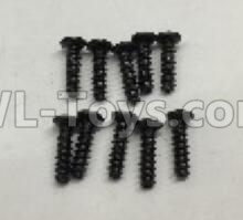 Wltoys 18409 RC Car Parts-Round Head self tapping screws Parts(M2x7)-10pcs-A949-39,Wltoys 18409 Parts