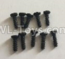 Wltoys 18409 RC Car Parts-0553 Round Head machine screws Parts(M2x6)-10pcs,Wltoys 18409 Parts