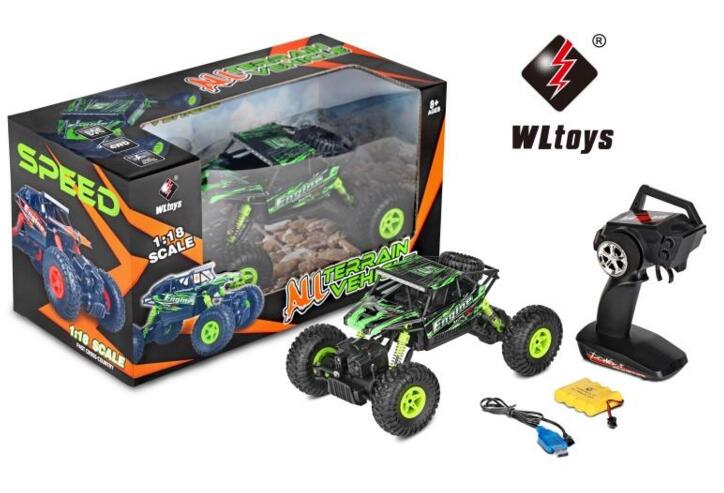 Wltoys 18428-B RC Car Wltoys 18428-B Car Parts-High speed 1:18 Full-scale rc racing car,1/18 1: 18 Mini Electric four-wheel-climbing car with Brake Function