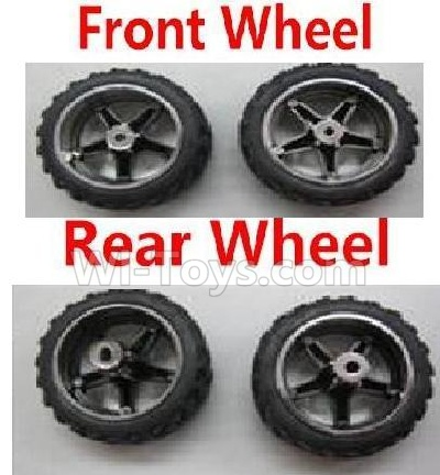 Wltoys 2019 RC Car Parts-Front Wheel(2pcs) & Rear Wheel Parts-(2pcs),Wltoys 2019 Parts